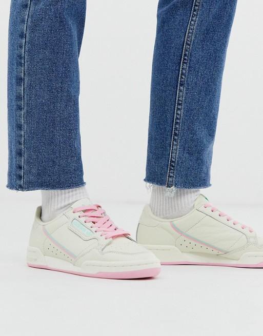 Bild 1 av adidas Originals – Continental 80 – Naturvita och mintgröna sneakers