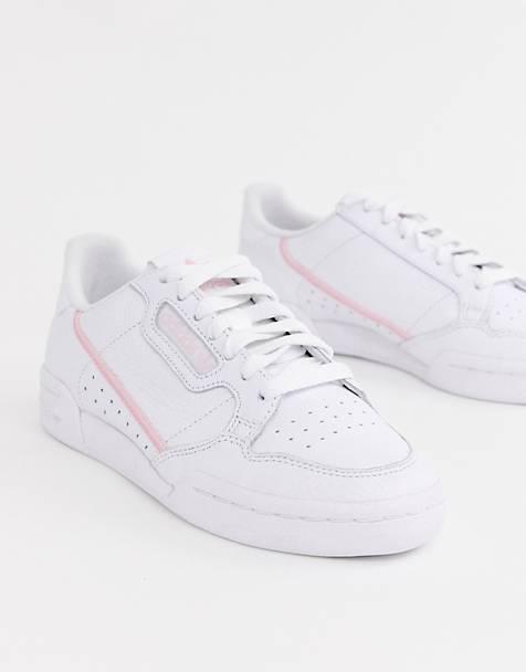 hot sales ccefa d339b adidas Originals - Continental 80 - Sneakers color bianco e rosa
