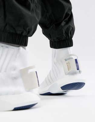 adidas Originals Crazy Sock Primeknit Sneakers In White CQ1012