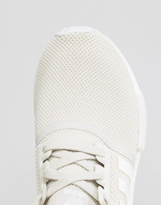 af46df658 adidas Originals Cream NMD Sneakers With Side Stripes