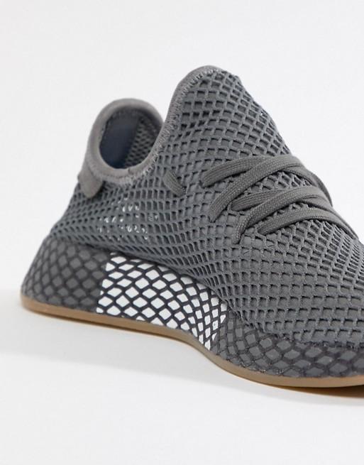 18384d289f98c adidas Originals Deerupt Runner Sneakers In Gray CQ2627