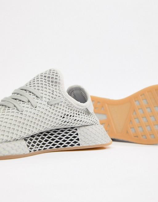reputable site 14e6c 02adc adidas Originals Deerupt Runner Sneakers In Gray CQ2628  ASO