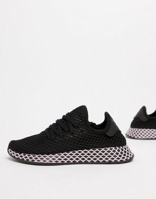 Image 1 of adidas Originals Deerupt Sneakers In Black And Lilac
