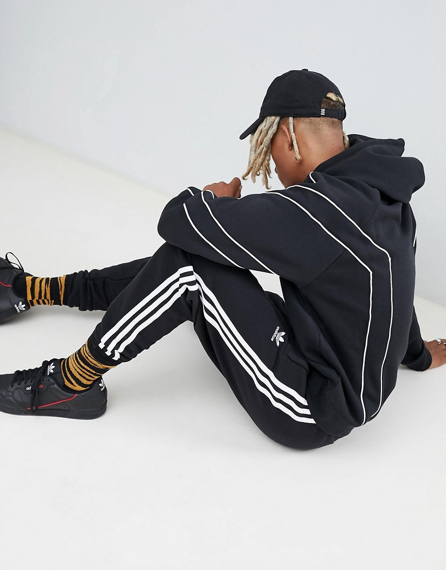 Adidas Originals Eqt Outline Hoodie In Black Dh5216 by Adidas Originals