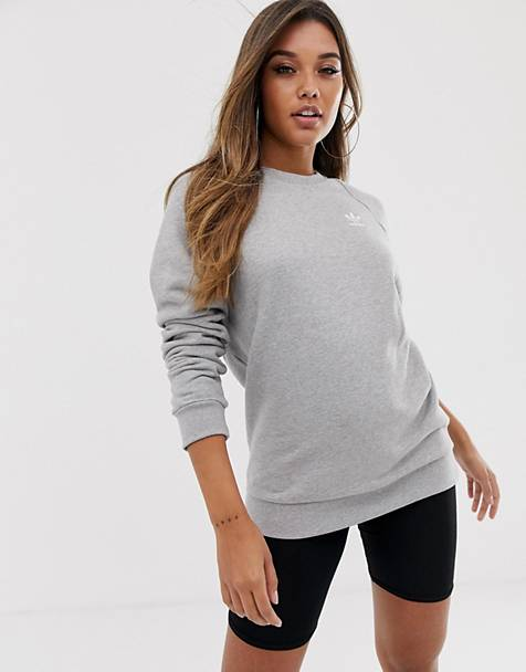 adidas Originals Essential crew neck sweat in gray