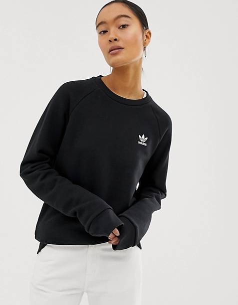 adidas Originals - Essential - Sweatshirt met ronde hals in zwart