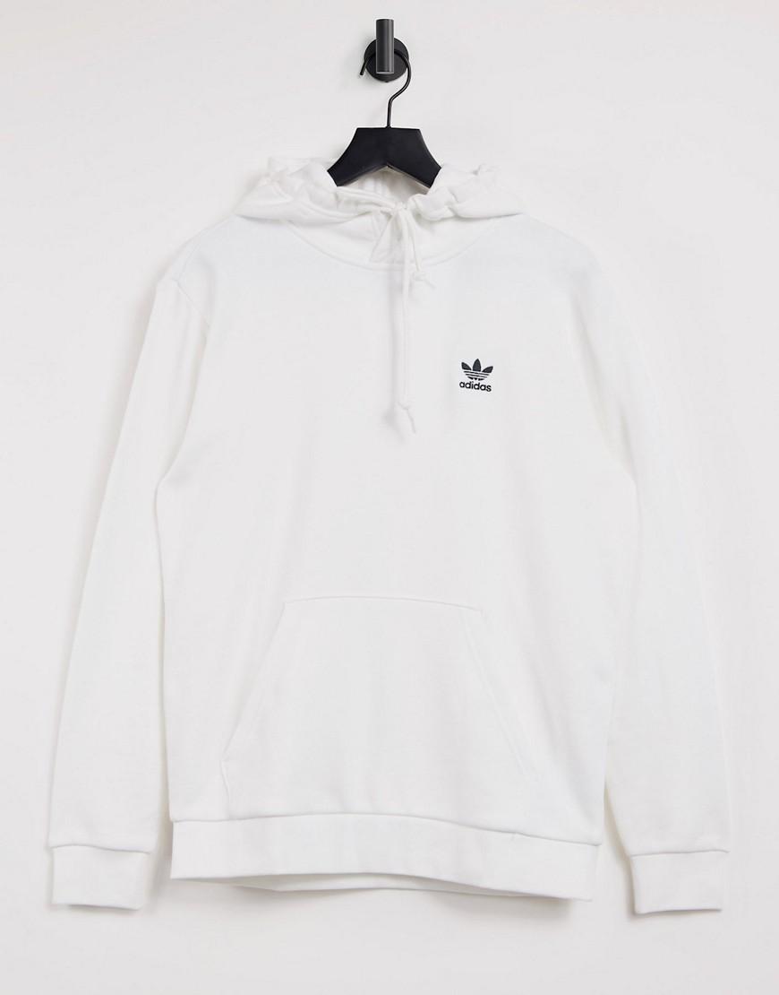 adidas Originals essentials hoodie in white