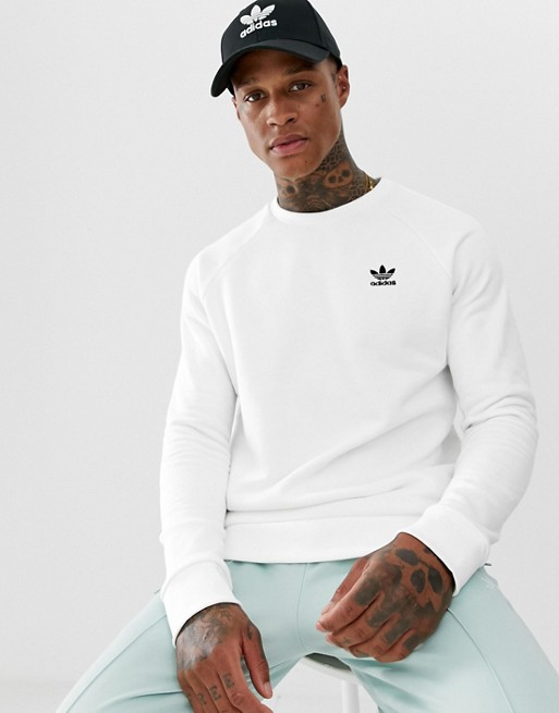 Image 1 of Adidas Originals Essentials Sweatshirt Small Logo White