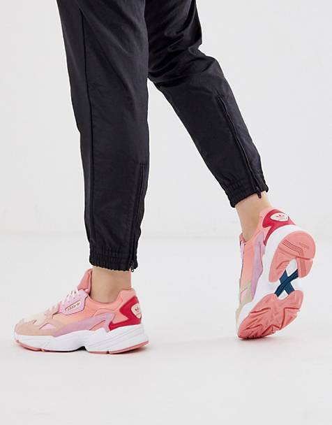 adidas Originals Falcon in pink and coral