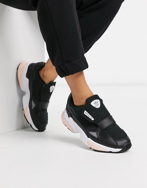 adidas Originals - Falcon RX - Baskets en velours côtelé - Noir et rose