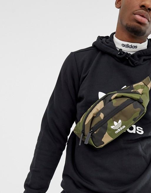 Image 1 of adidas Originals Fanny Pack in in camo