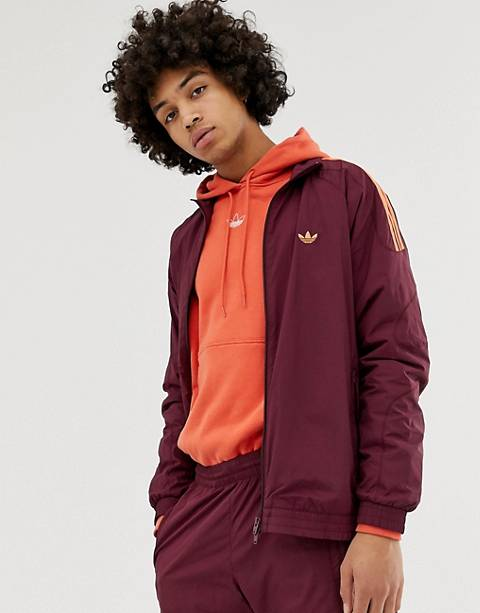 adidas Originals Flamestrike Track Jacket in red