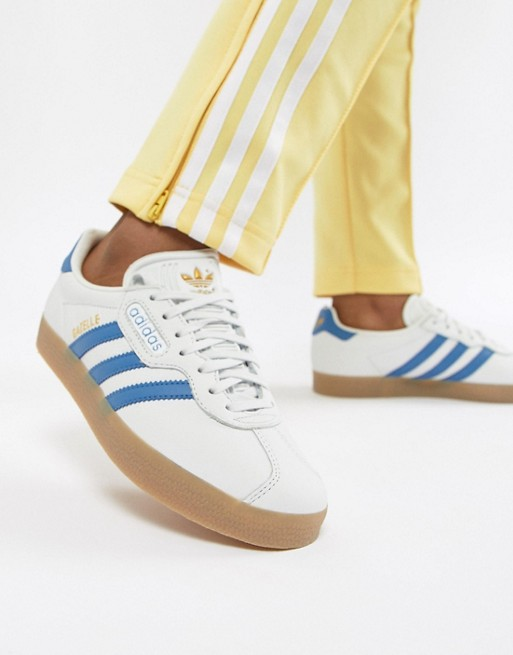 adidas Originals adidas Originals Gazelle Super Trainers In Blanc