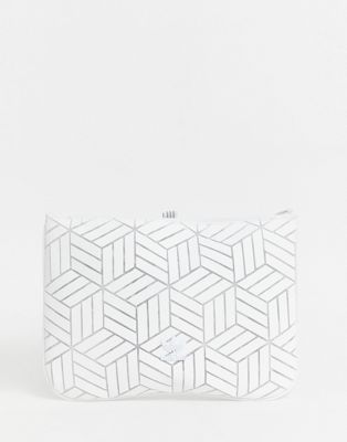 Afbeelding 1 van adidas Originals - Geometrische 3D laptophoes in wit