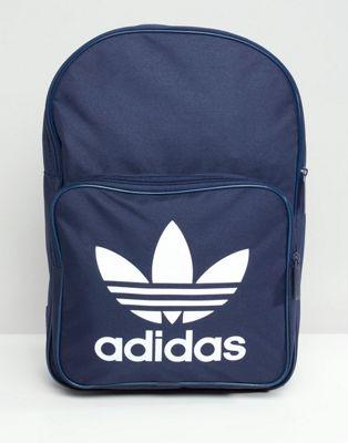 adidas - Originals - Grote trefoil rugzak, in marineblauw DJ2171