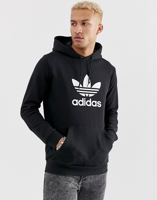 Image 1 of adidas Originals Hoodie With Trefoil Logo in Black DT7963