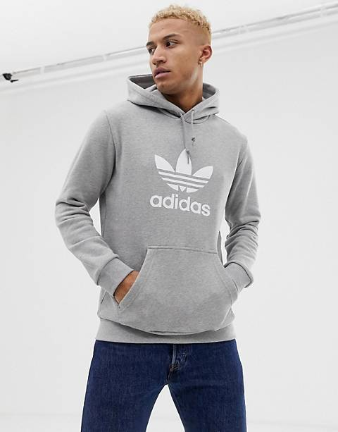 adidas Originals Hoodie with Trefoil logo in gray