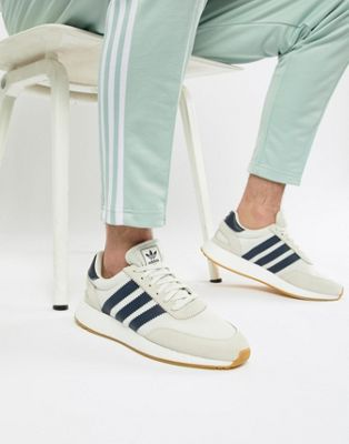 adidas Originals I-5923 Boost Suede Sneakers In White B37947
