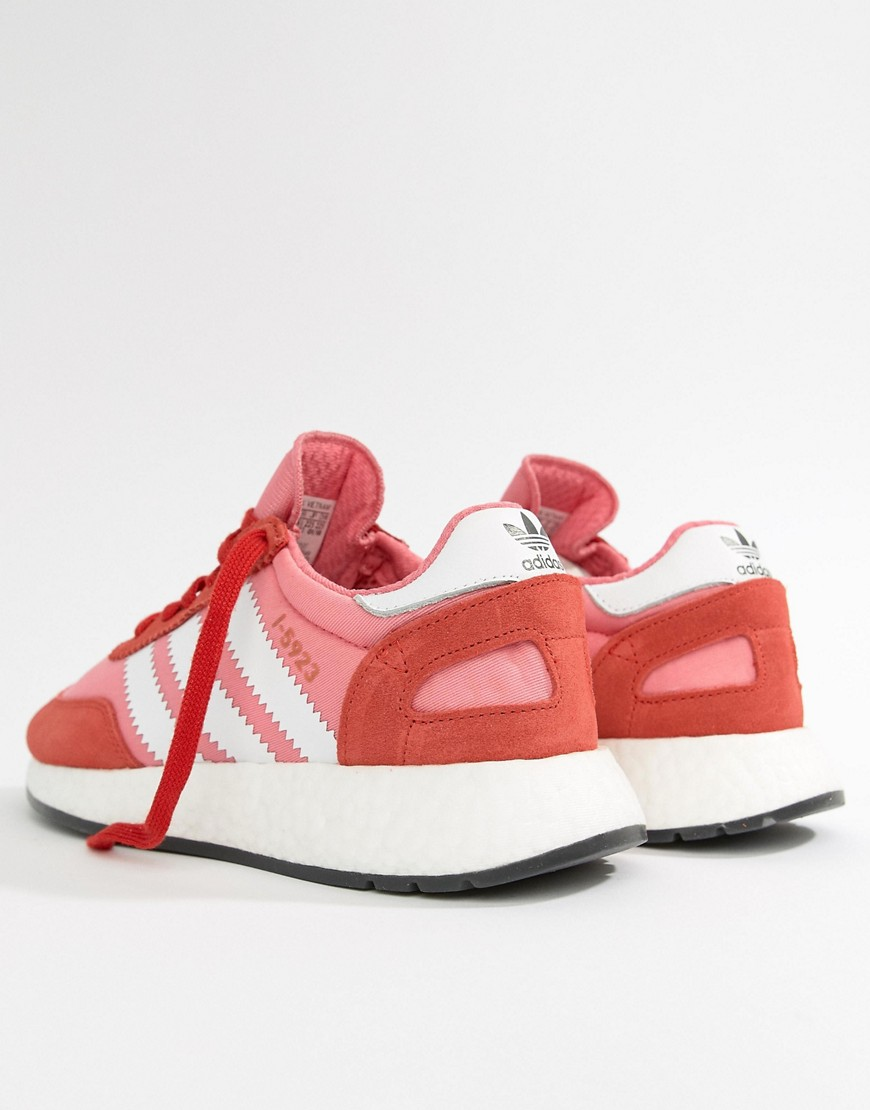 Adidas Originals I 5923 Runner Sneakers In Red And Pink by Adidas
