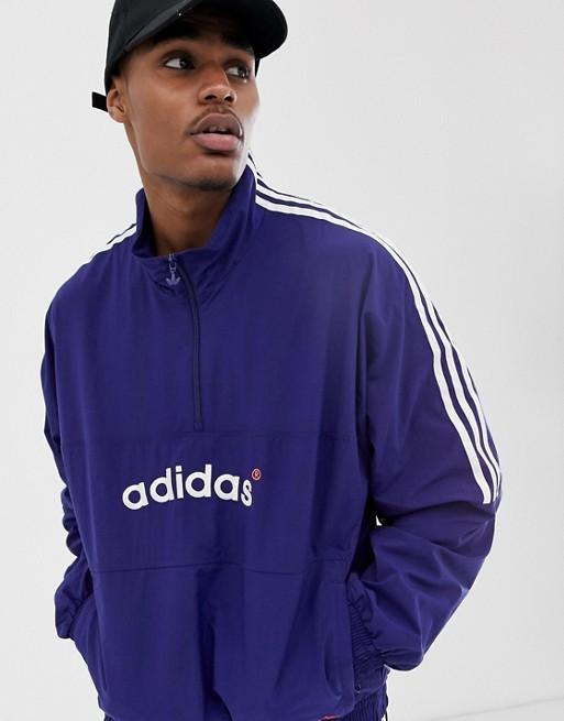 Bild 1 von adidas originals – Jacke zum Überziehen mit Logostickerei und Einsätzen in Marineblau