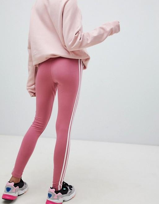adidas Originals Legging met drie strepen in roze