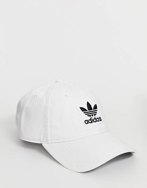 adidas Originals logo cap in White
