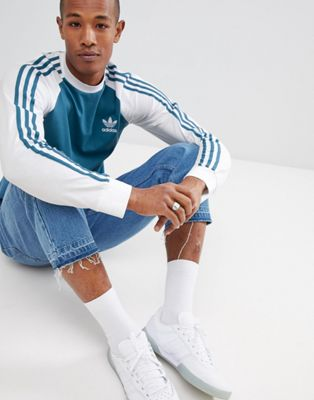 adidas Originals Long Sleeve Top In BLue DH5794