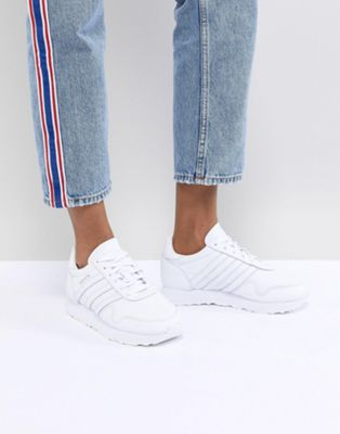 adidas Originals Made In Germany Haven Sneakers In Premium White Leather