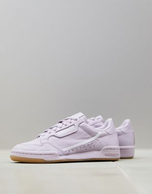 Image 1 of adidas Originals mauve Continental 80 sneakers