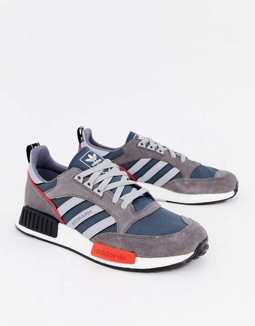 adidas Originals Never Made Boston super limited edition sneakers in gray suede