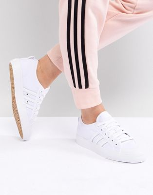 adidas Originals Nizza Canvas Sneakers In White