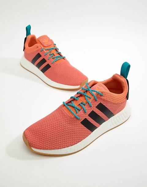 adidas Originals NMD R2 Summer Boost Sneakers In Orange CQ3081