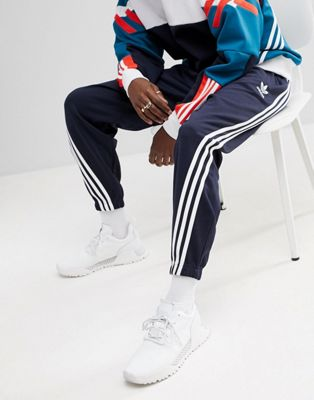 adidas Originals Nova Wrap Around Joggers In Navy CE4805