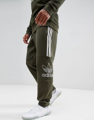 adidas Originals Outline Jersey Joggers In Green DH5792