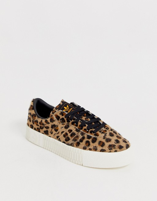 adidas Originals Outloud Samba Rose sneakers in leopard print