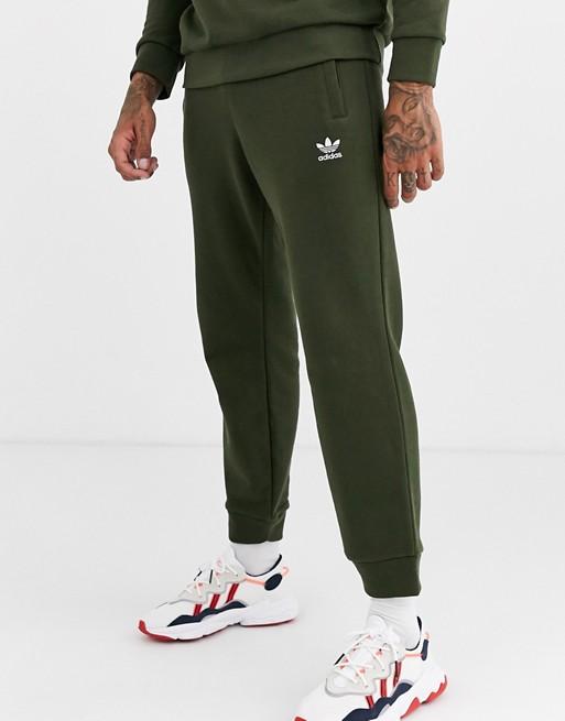 adidas Originals - Pantalon de jogging avec logo brodé - Kaki