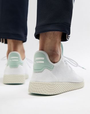adidas Originals Pharrell Williams Tennis HU Trainers In White CQ2168