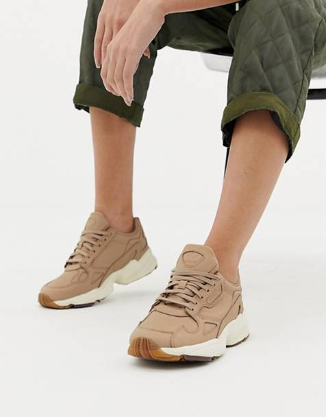 adidas Originals premium Falcon sneakers in beige