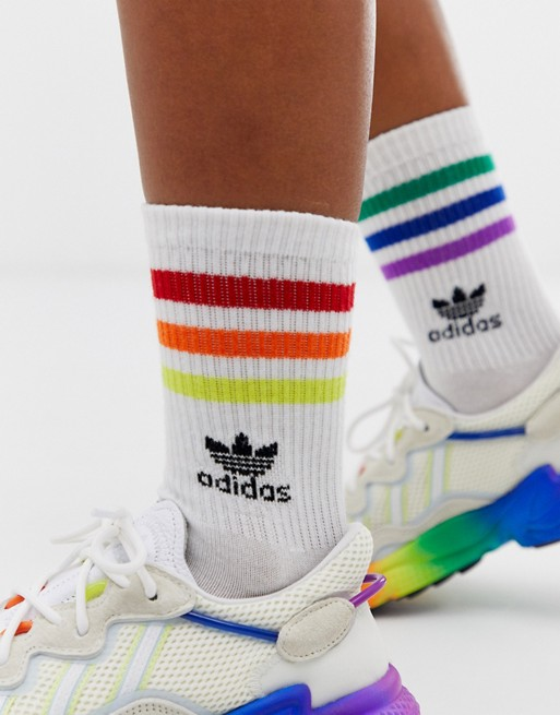 Image 1 of adidas Originals Pride rainbow socks