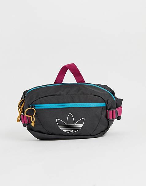 adidas Originals retro fanny pack with trefoil outline