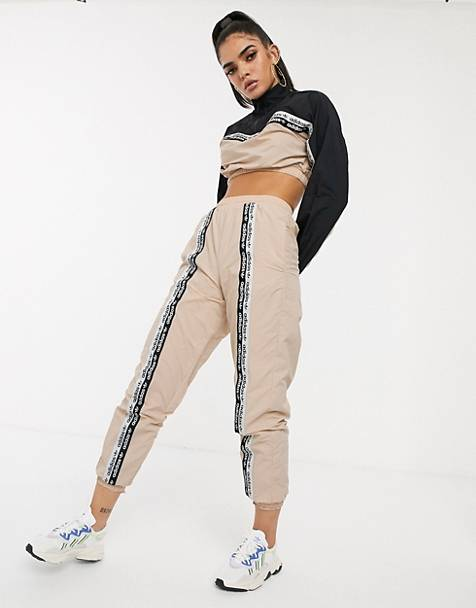 adidas Originals RYV taping track pants in blush