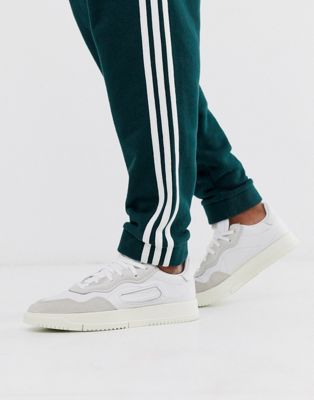 adidas Originals SC Premier trainers in white with suede