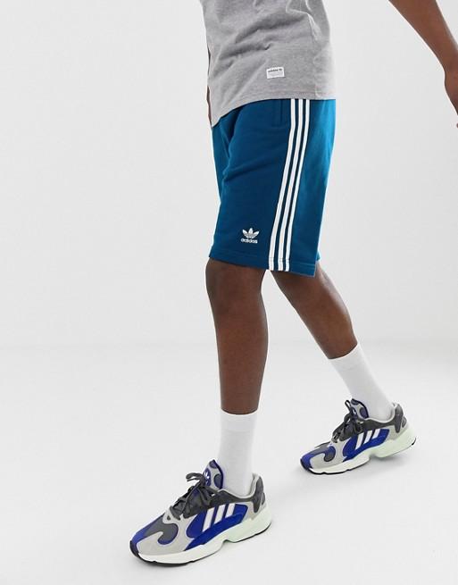 Afbeelding 1 van adidas Originals - Short met 3 strepen in blauw DV1525