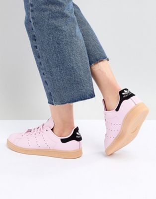 adidas Originals - Stan Smith - Baskets avec semelle en caoutchouc - Rose