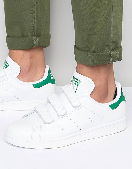 adidas Originals Stan Smith Velcro Sneakers In White S75187