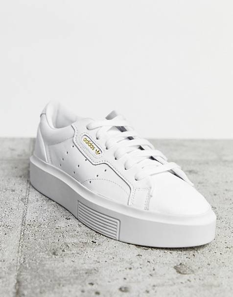 adidas Originals Super Sleek sneakers in white
