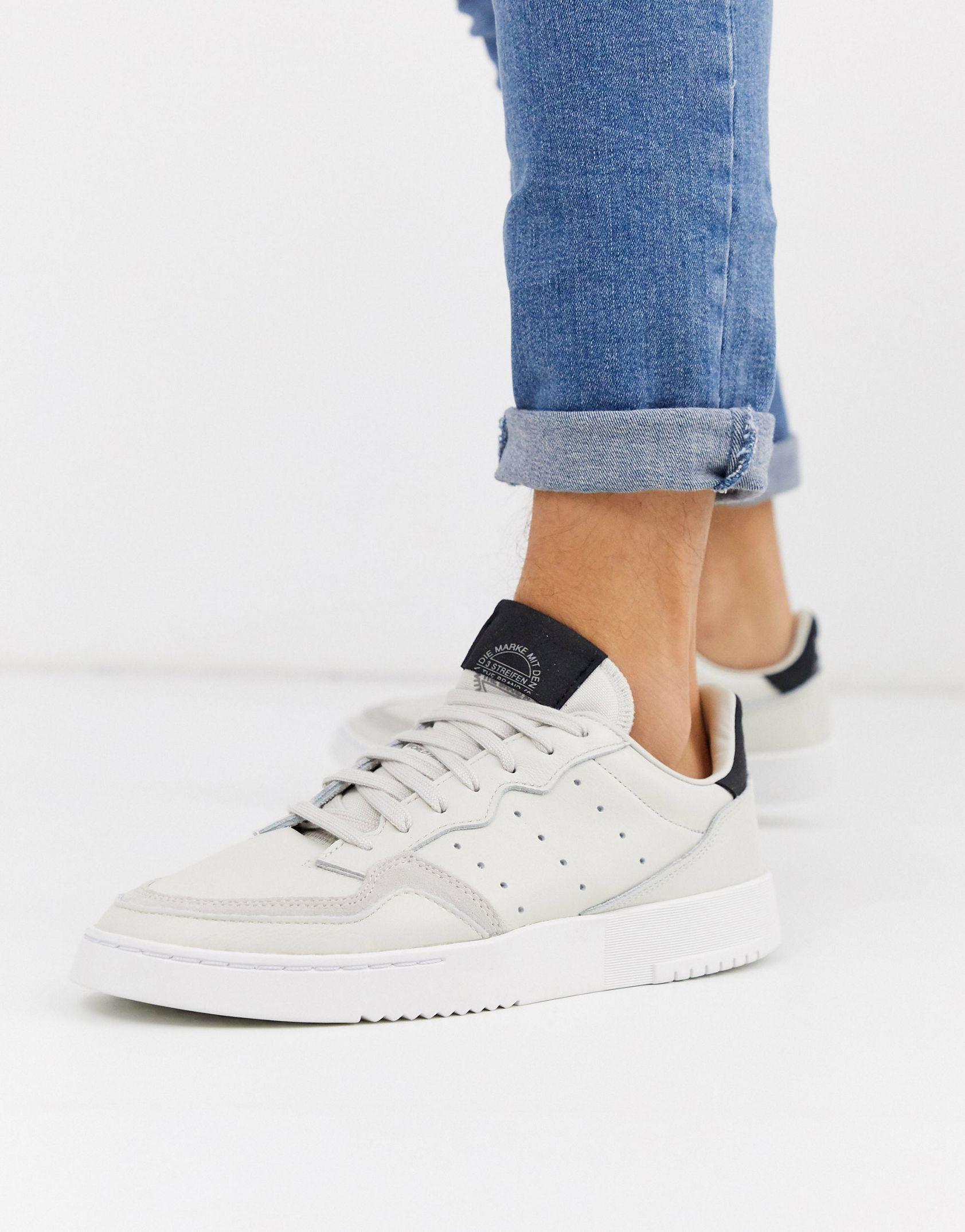 adidas Originals supercourt trainers in off white - ASOS Price Checker