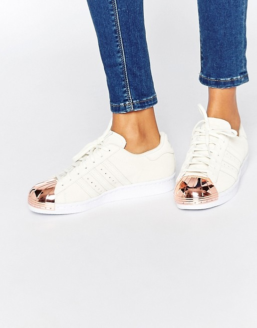 adidas Originals | Adidas Originals - Superstar 80s - Baskets à bout renforcé - Or rose