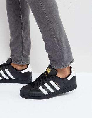 adidas Originals – Superstar – Schwarze Sneaker b27140