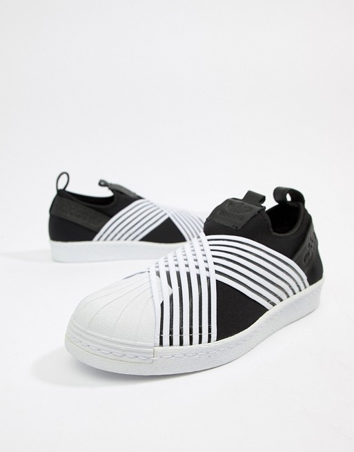 adidas superstar slip on zwart